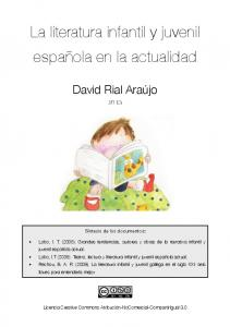 La literatura infantil y juvenil española en la actualidad