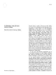 La literatura, reino del mito: Roberto CalaSSO