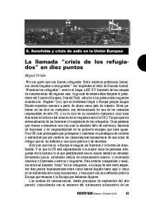 La llamada crisis de los refugiados en diez puntos