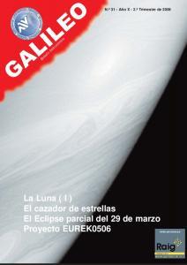 La Luna ( I ) El cazador de estrellas El Eclipse parcial del 29 de marzo Proyecto EUREK0506