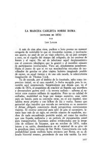 LA MARCHA CARLISTA SOBRE ROMA. Luis LAVAUR