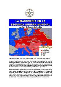 LA MASONERÍA EN LA SEGUNDA GUERRA MUNDIAL
