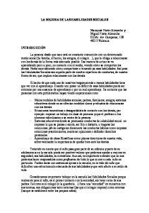 LA MEJORA DE LAS HABILIDADES SOCIALES