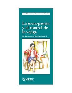 La menopausia y el control de la vejiga