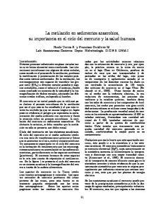 La metilaci on en sedimentos anaerobios, su importancia en el ciclo del mercurio y la salud humana