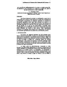 La Mineria en el Contexto de la Ordenación del Territorio
