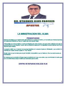 LA MINISTRACION DEL ALMA