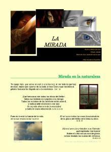 LA MIRADA. Mirada en la naturaleza. Isa Cano Orar con una Palabra: LA MIRADA.- 1