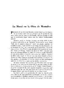La Moral en la Obra de Montalvo