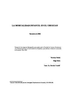 LA MORTALIDAD INFANTIL EN EL URUGUAY