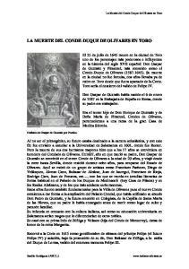 LA MUERTE DEL CONDE-DUQUE DE OLIVARES EN TORO