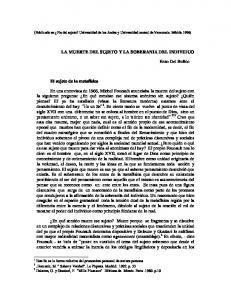 LA MUERTE DEL SUJETO Y LA SOBERANIA DEL INDIVIDUO