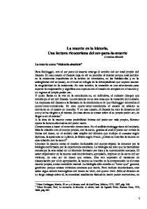 La muerte en la historia. Una lectura ricoeuriana del ser-para-la-muerte Cristina Micieli
