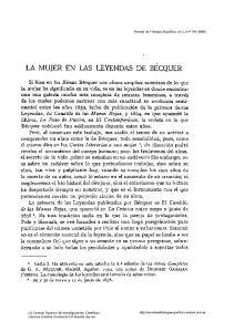 LA MUJER EN LAS LEYENDAS DE BECQUER