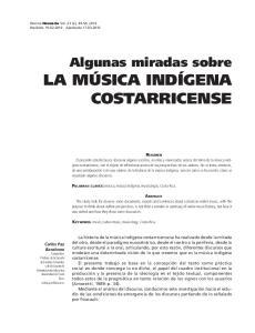 LA MUSICA INDIGENA COSTARRICENSE