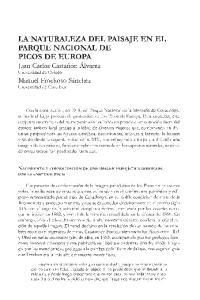 LA NATURALEZA DEL PAISAJE EN EL PARQUE NACIONAL DE PICOS DE EUROPA