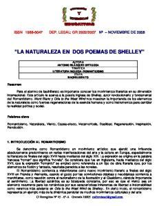 LA NATURALEZA EN DOS POEMAS DE SHELLEY