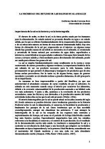 LA NECESIDAD DEL ESTUDIO DE LAS SALINAS EN AL-ANDALUS