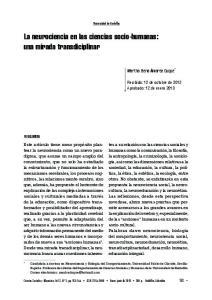 La neurociencia en las ciencias socio-humanas: una mirada transdiciplinar