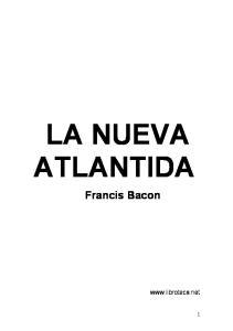 LA NUEVA ATLANTIDA Francis Bacon