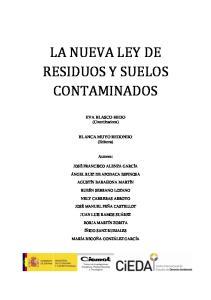LA NUEVA LEY DE RESIDUOS Y SUELOS CONTAMINADOS