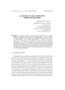LA NUEVA LEY DEL IMPUESTO SOBRE SOCIEDADES