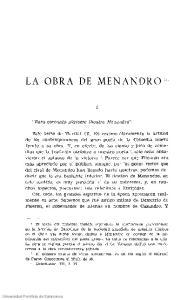 LA OBRA DE MENANDRO