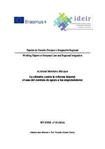 La ofensiva contra la reforma laboral: el caso del contrato de apoyo a los emprendedores