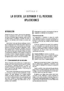 LA OFERTA, LA DEMANDA Y EL MERCADO: APLICACIONES