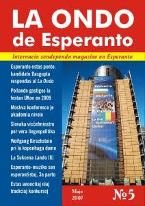 LA ONDO. de Esperanto Internacia sendependa magazino en Esperanto