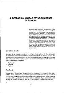 LA OPERACION MILITAR ESTADOUNIDENSE EN PANAMA