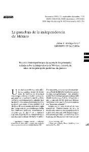 La paradoja de la independencia de Mexico