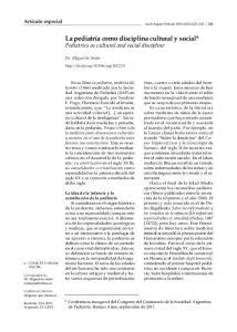La pediatría como disciplina cultural y social* Pediatrics as cultural and social discipline