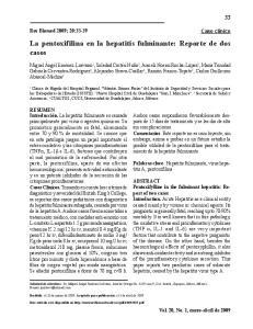 La pentoxifilina en la hepatitis fulminante: Reporte de dos casos