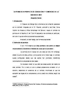 LA PERMUTA EN PROYECTO DE CODIGO CIVIL Y COMERCIAL DE LA NACION DE Alejandro Borda. del Libro III que se refiere a los derechos personales