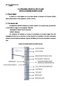 LA PIZARRA DIGITAL EN CLASE APLICACIONES HABITUALES