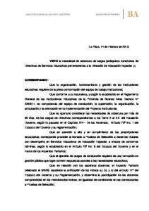 La Plata, 14 de Febrero de 2013