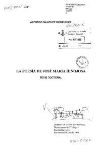 LA POESA DE JOS MARA HINOJOSA