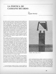 LA POETICA DE.CASSIANO RICARDO