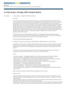 La Poste Group - Strategic SWOT Analysis Review