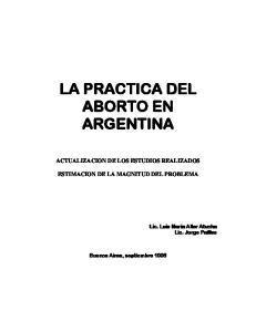 LA PRACTICA DEL ABORTO EN ARGENTINA