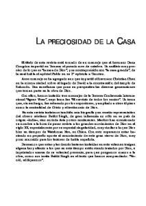 LA PRECIOSIDAD DE LA CASA
