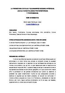 LA PREHISTORIA DE ITALIA Y SUS MANIFESTACIONES ARTÍSTICAS. LAS CULTURAS ITALIANAS PROTOHISTÓRICAS Y PRERROMANAS. ISBN: