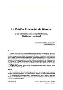 La Prisión Provincial de Murcia: