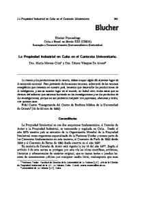 La Propiedad Industrial en Cuba en el Contexto Universitario