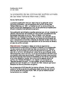 La protección de las víctimas del conflicto armado de las Islas Falkland-Malvinas (1982)