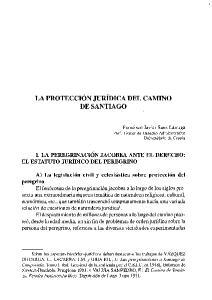LA PROTECCIÓN JURÍDICA DEL CAMINO DE SANTIAGO