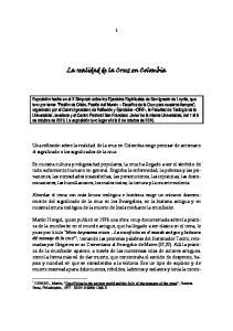 La realidad de la Cruz en Colombia