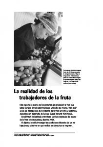 La realidad de los trabajadores de la fruta
