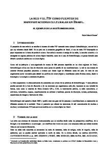 LA RED Y EL P2P COMO FUENTES DE MANIFESTACIONES CULTURALES EN BRASIL